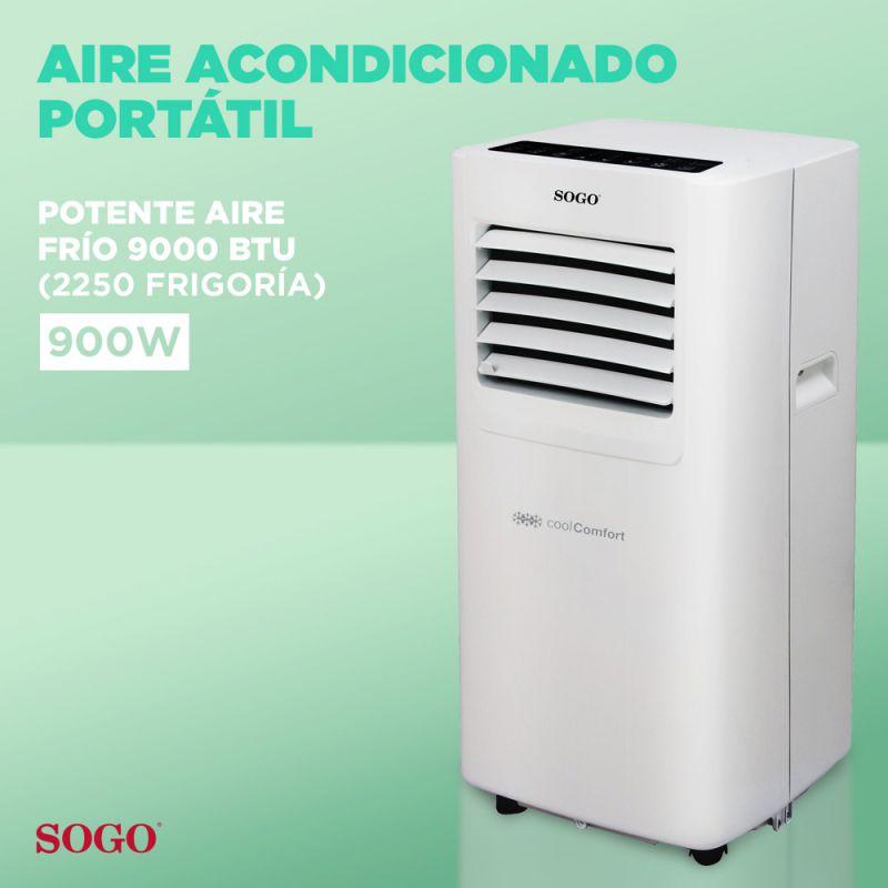 AIRE ACONDICIONADO PORTÁTIL 8000 BTU