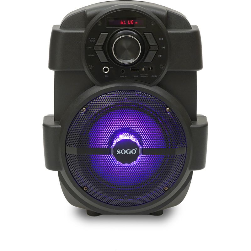ALTAVOZ PORTÁTIL KARAOKE BLUETOOTH + USB + MP3+ RADIO FM+ AUX IN + PANTALLA LED