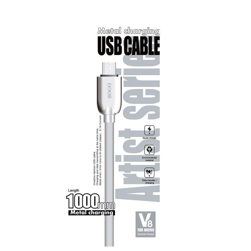 CABLE DE DATOS + CARGA MICRO USB SERIE ARTIST (MASTER)