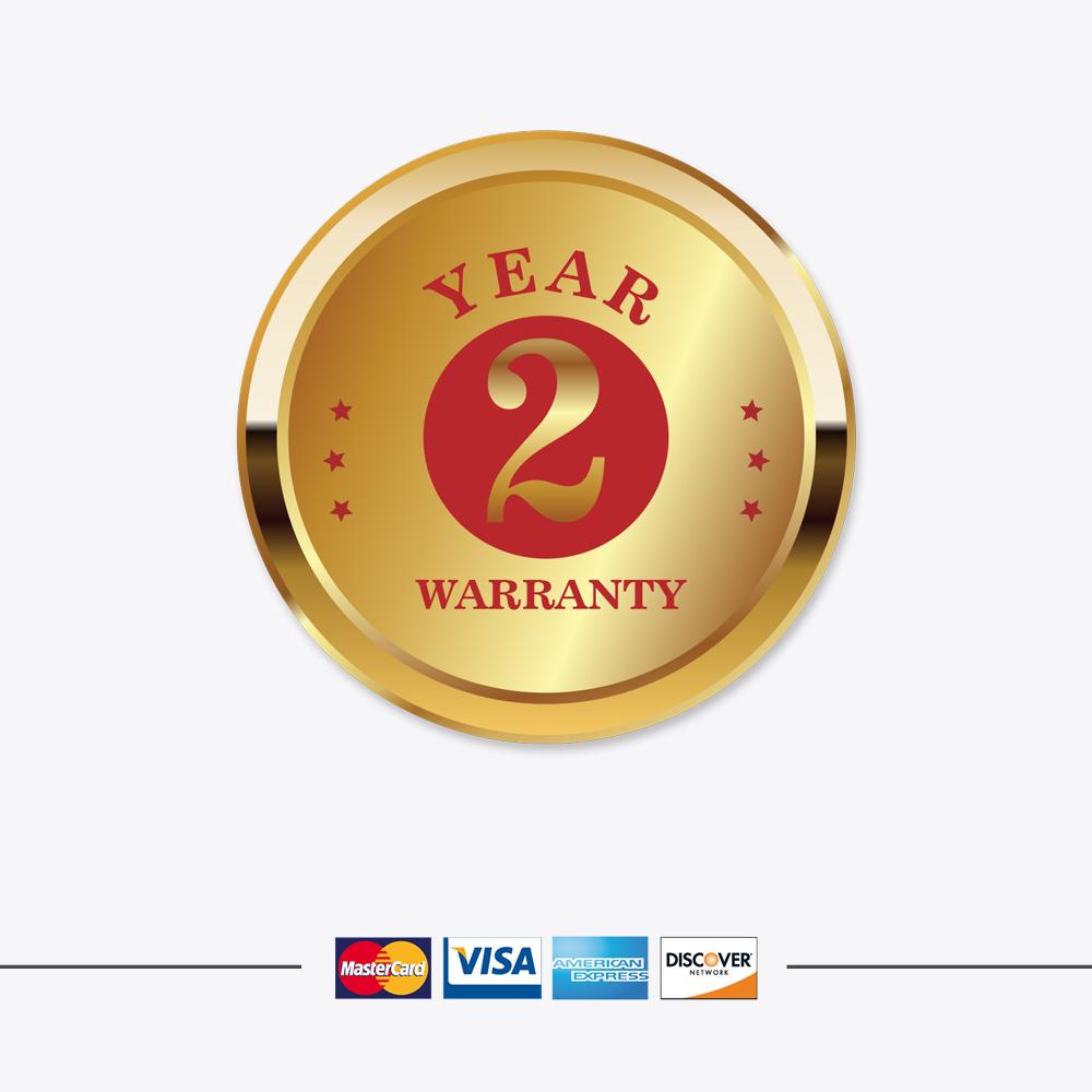 Garantía de 2 años en todos nuestros productos